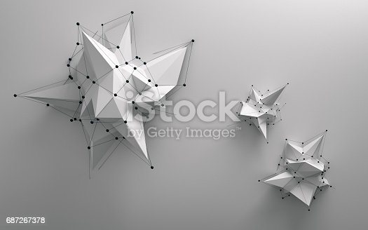 istock Abstract low poly object 687267378