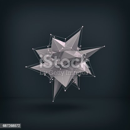 687269072istockphoto Abstract low poly object 687268572