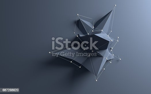 istock Abstract low poly object 687268620