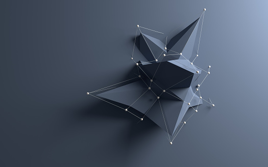 Abstract low poly object