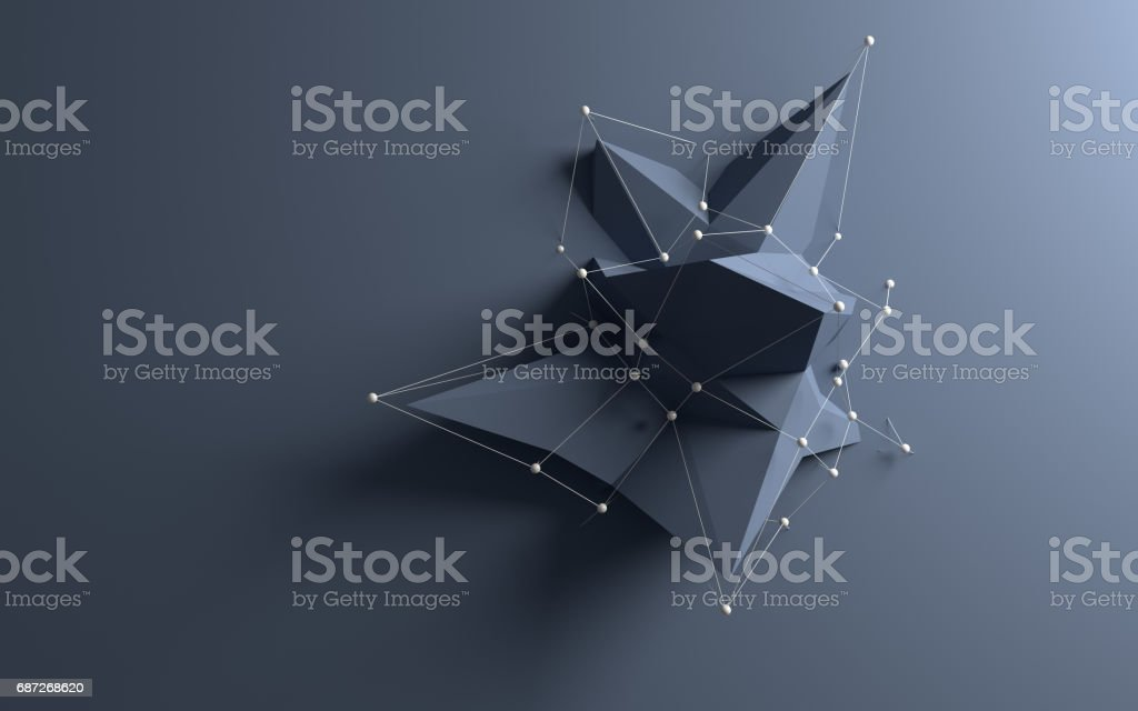 Abstract low poly object stock photo