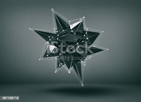687269072istockphoto Abstract low poly object 687268716