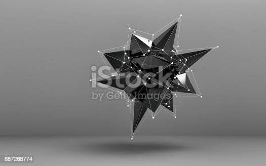687269072istockphoto Abstract low poly object 687268774