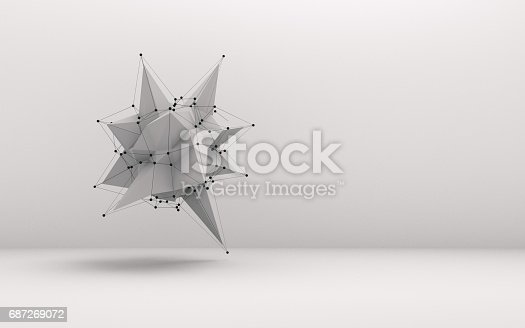 istock Abstract low poly object 687269072