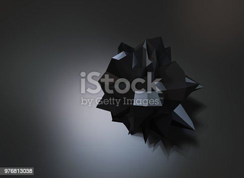 687269072istockphoto Abstract low poly object 976813038