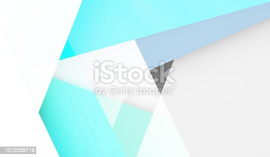 istock Abstract low-poly background, digital graphic 1012538716