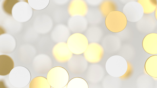 istock Abstract lux background with white and gold 3d circle 1072659210
