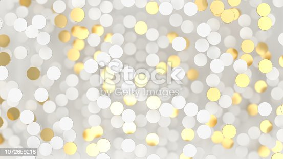 869781130 istock photo Abstract lux background with white and gold 3d circle 1072659218