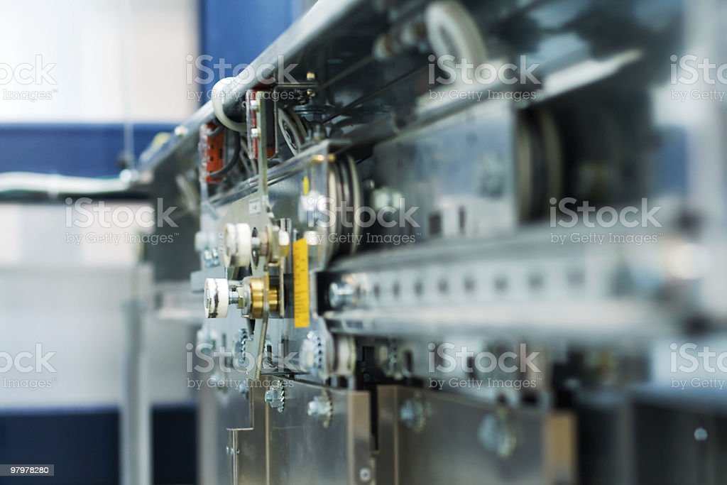 Abstract machinery background royalty-free stock photo