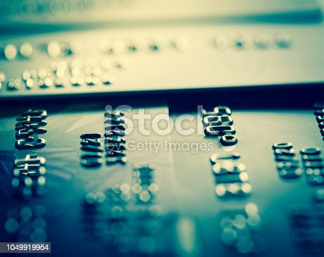 istock Abstract macro credit card background 1049919954