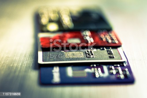 istock Abstract macro credit card background 1157316659