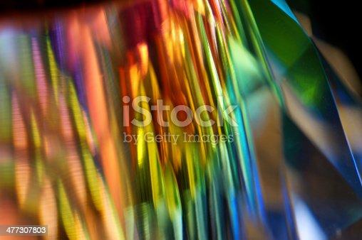 Abstract Macro of multicolor SWAROVSKI crystal