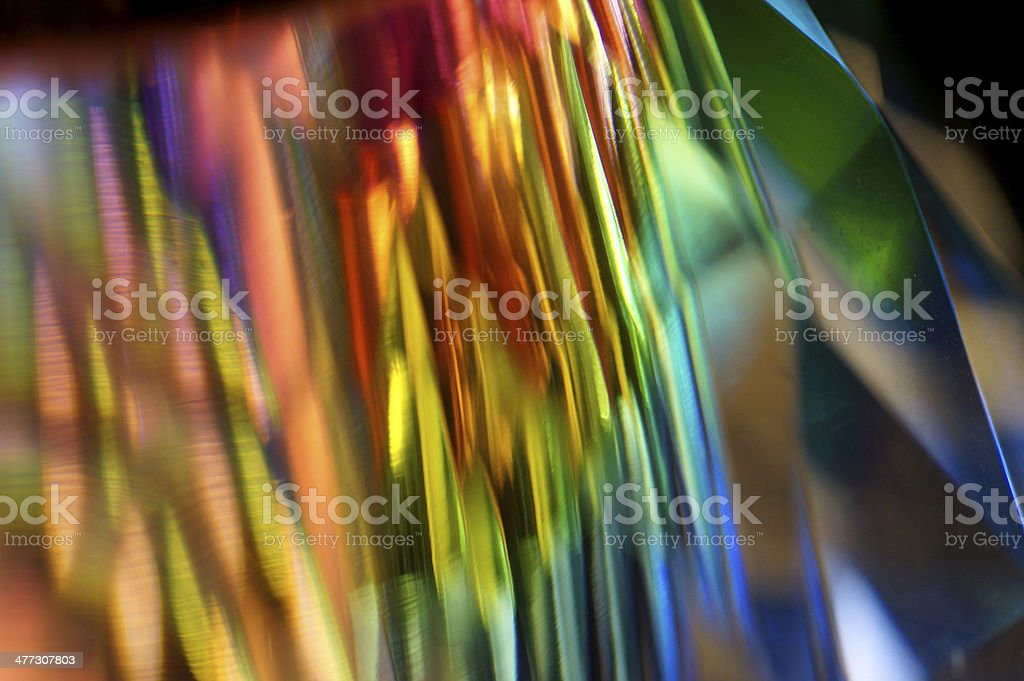 Abstract Macro of multicolor SWAROVSKI crystal stock photo