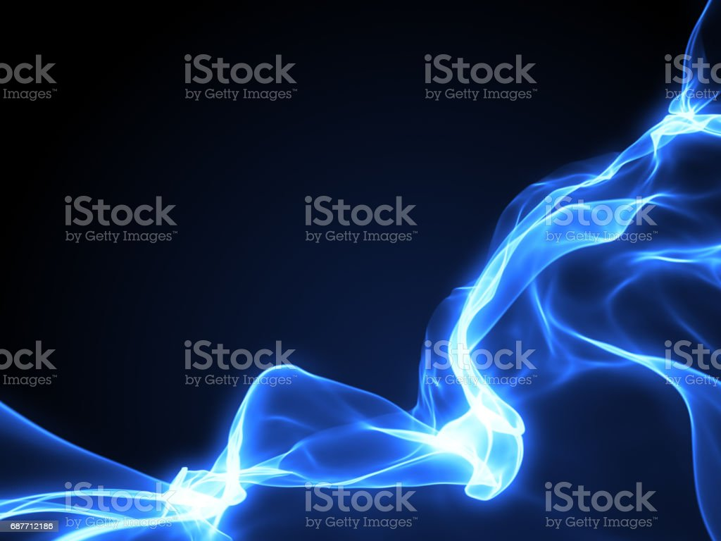 Abstract magic light blue background stock photo