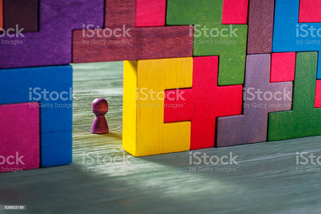 Abstract man in the doorway. stock photo
