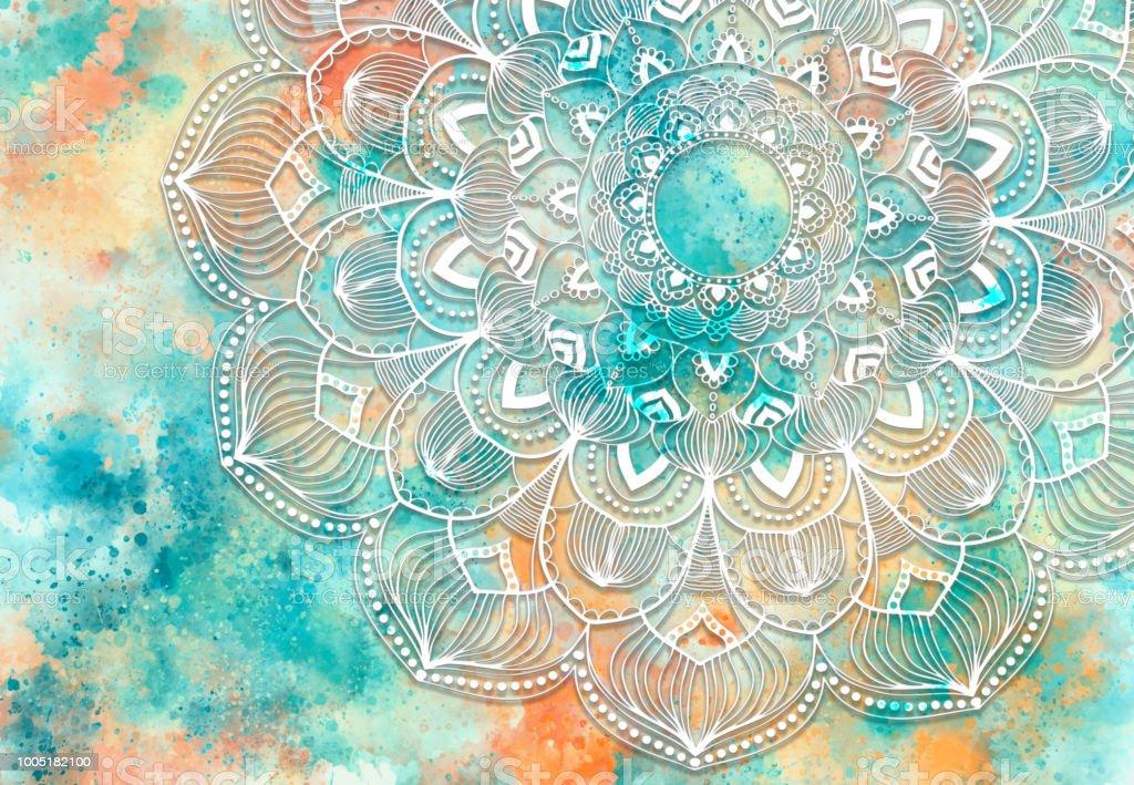 Abstract Mandala Flower Graphic Background Fotografie Stock E