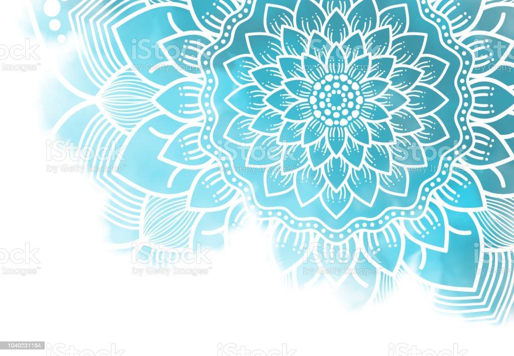 Mandala abstrait fond graphique - Photo