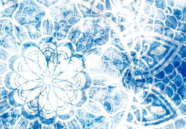 abstrakte mandala grafischen hintergrund - detailliert stock-fotos und bilder