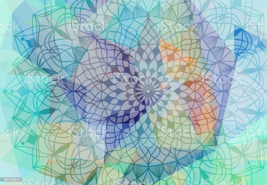 Abstract Mandala Graphic Design Background Fotografie Stock E