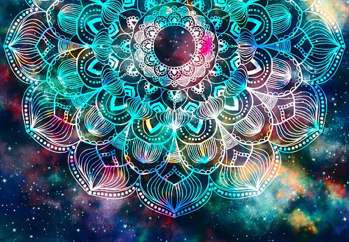 istock Abstract mandala graphic design background 962730358