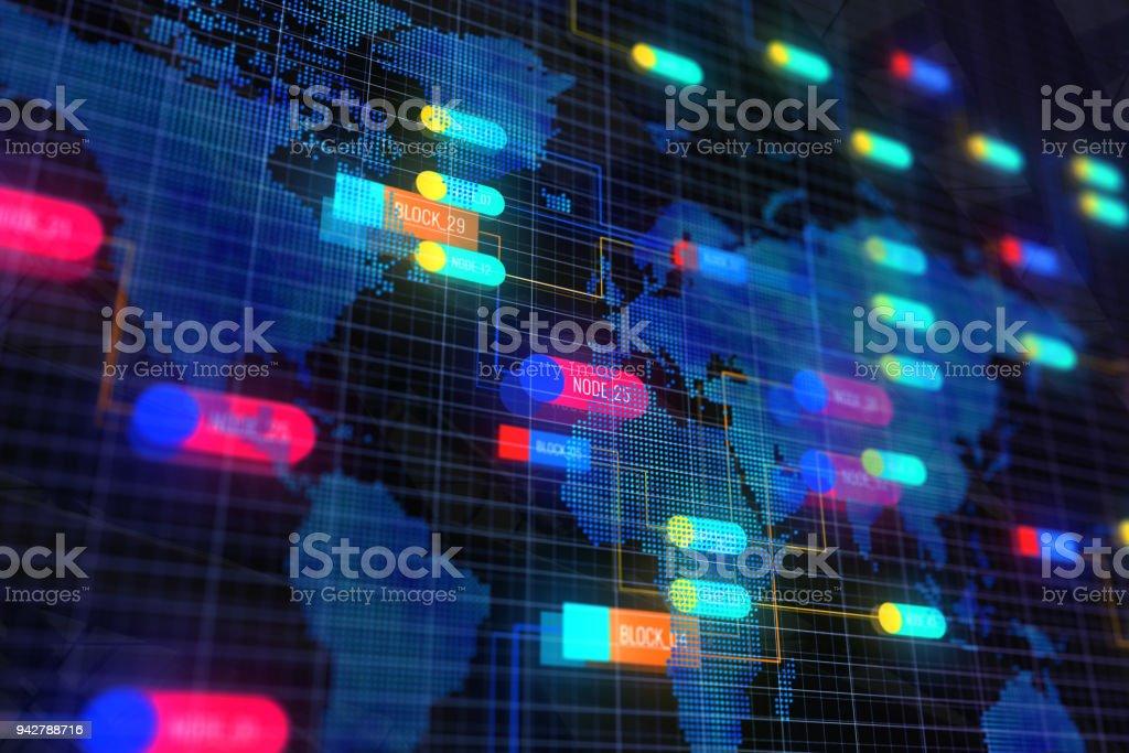 Abstract map node backdrop stock photo