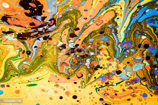 Traditional marbling artwork patterns as colorful abstract background