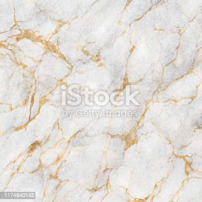 istock abstract marbling texture, white marble with golden veins, artificial stone illustration, hand painted background, wallpaper 1174840143