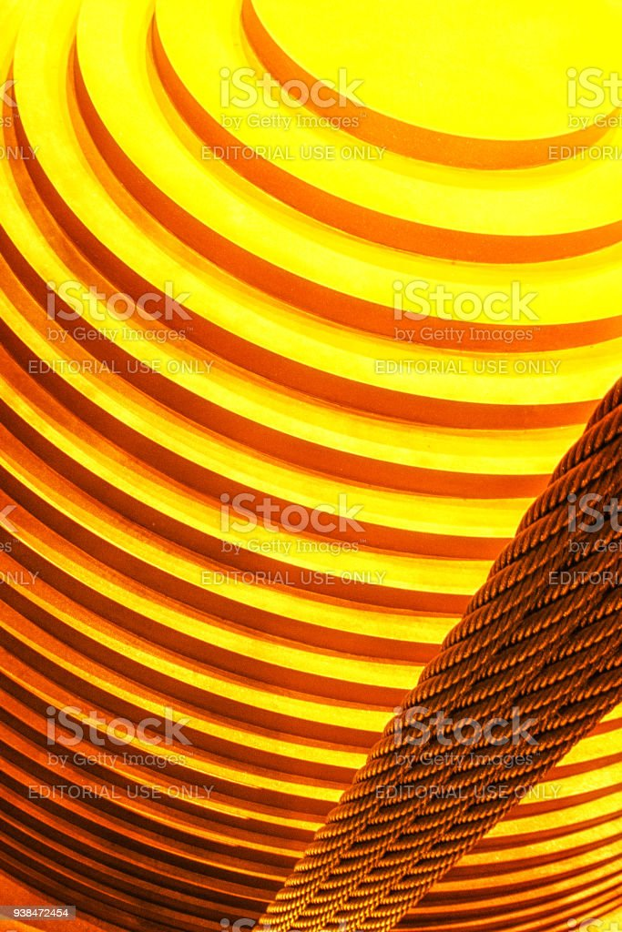 Abstract mass damper of Taipei 101 stock photo