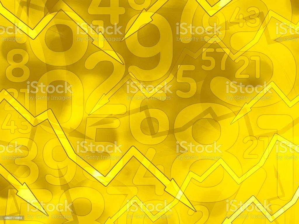 Tło żółte strzałki tło matematyczne – zdjęcie