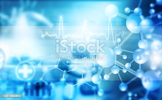 istock Abstract medical and science background 1051690842