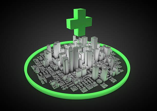 Abstrakte medical city – Foto