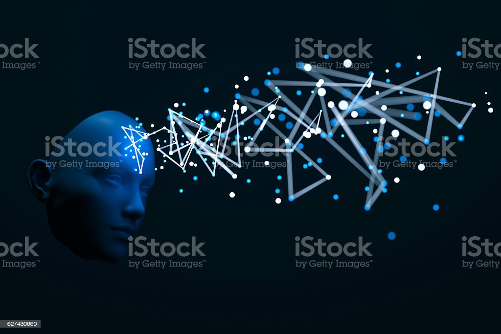 Abstract meditation concept stock photo