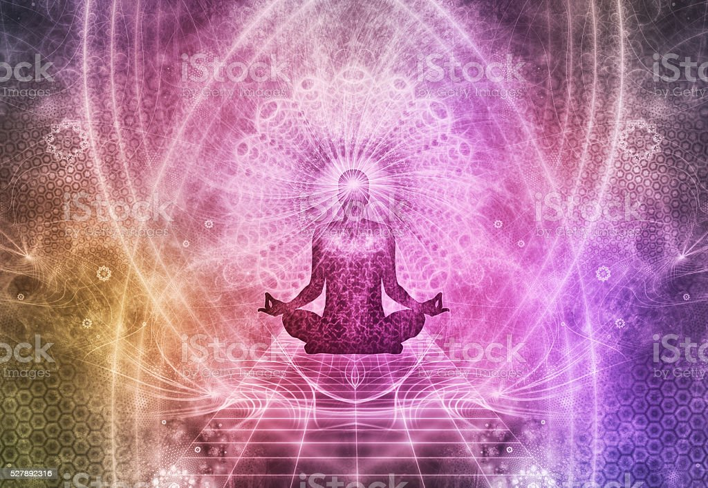 Abstract Meditation Spiritualism Concept stock photo