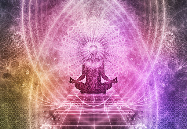 abstract meditation spiritualism concept - spirituality stock photos and pictures