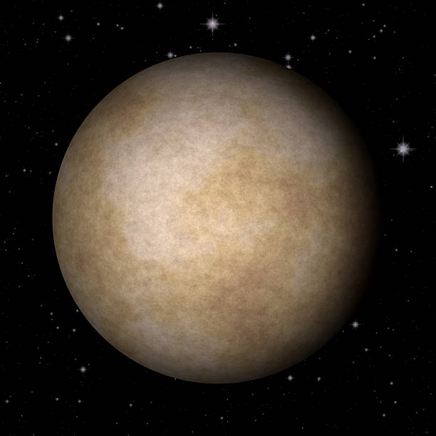 Abstract Mercury planet generated texture background stock photo