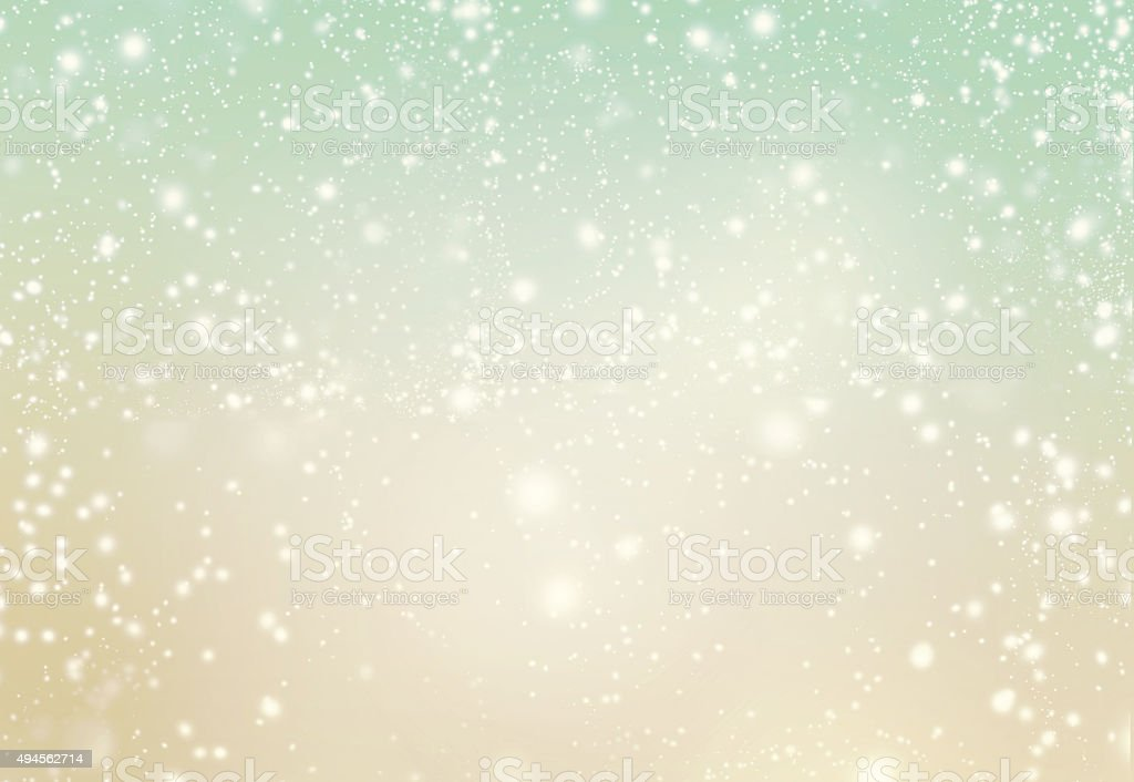 Abstract Merry Christmas card - Golden lights stock photo