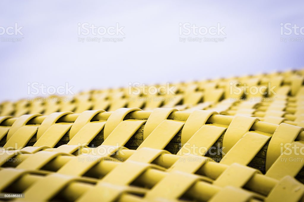 Abstract mesh of an traditional baltic beach chair stock photo