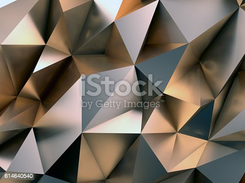 istock Abstract Metal Background 3D Illustration 614640540