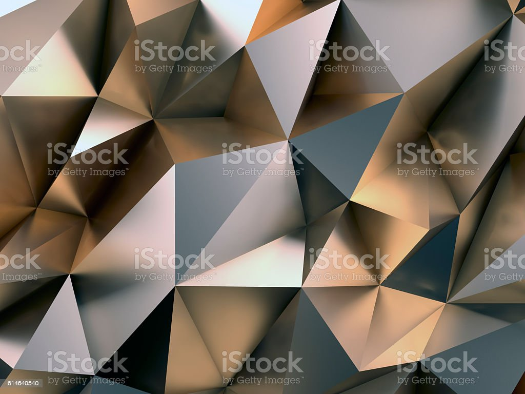 Abstract Metal Background 3D Illustration stock photo