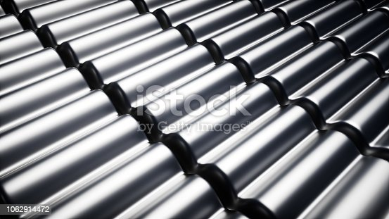 537763543 istock photo Abstract metal background, 3d rendering wave background.Sense of science and technology. 1062914472