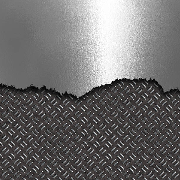 abstract metal background - diamond plate background stock photos and pictures
