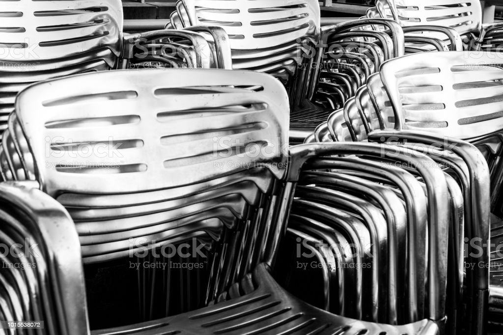 Abstract Metal Chair Background I stock photo