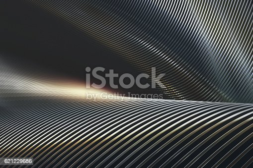 istock Abstract Metal Chrome 621229686