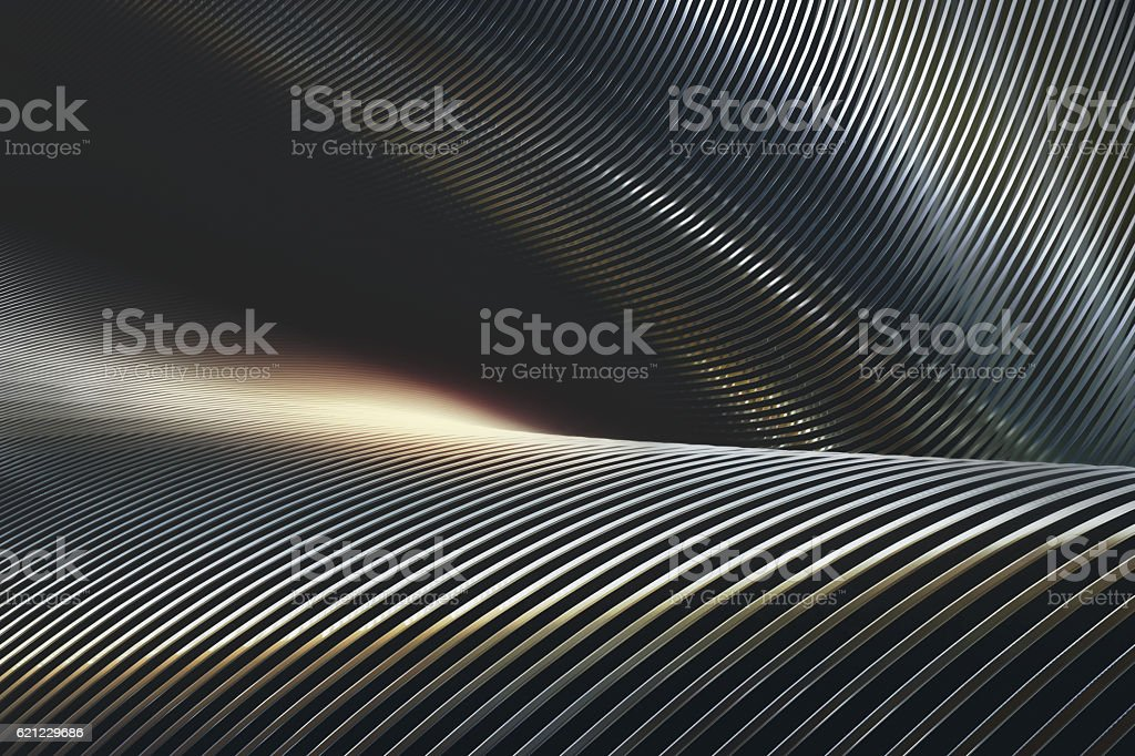 Abstract Metal Chrome stock photo