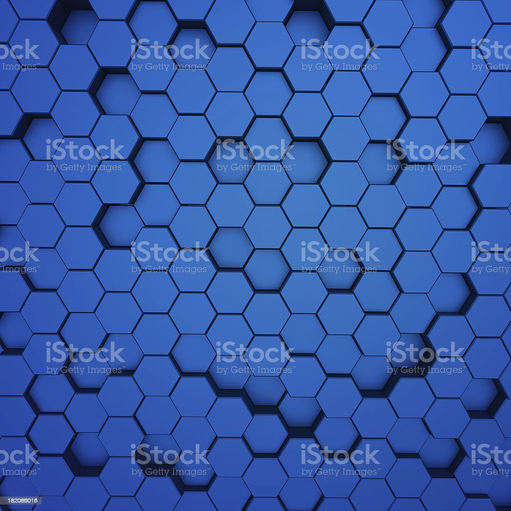 Abstract metal molecules background royalty-free stock photo