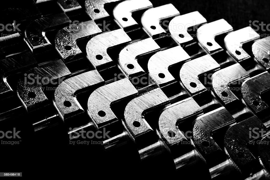 abstract metal shape stock photo