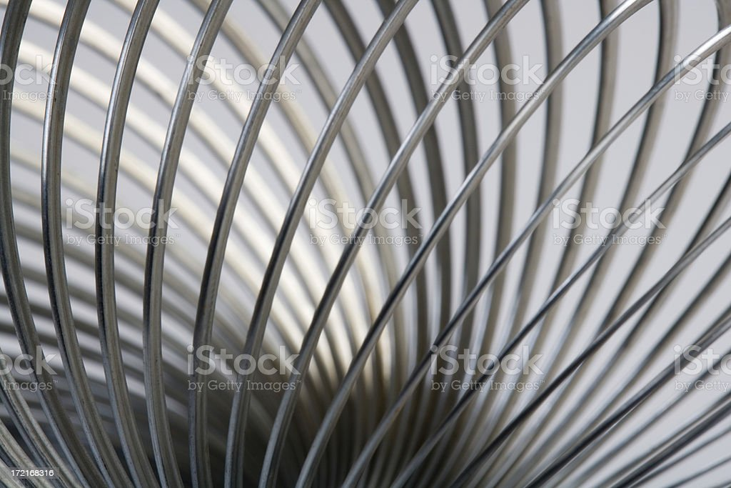 Abstract metal spiral royalty-free stock photo