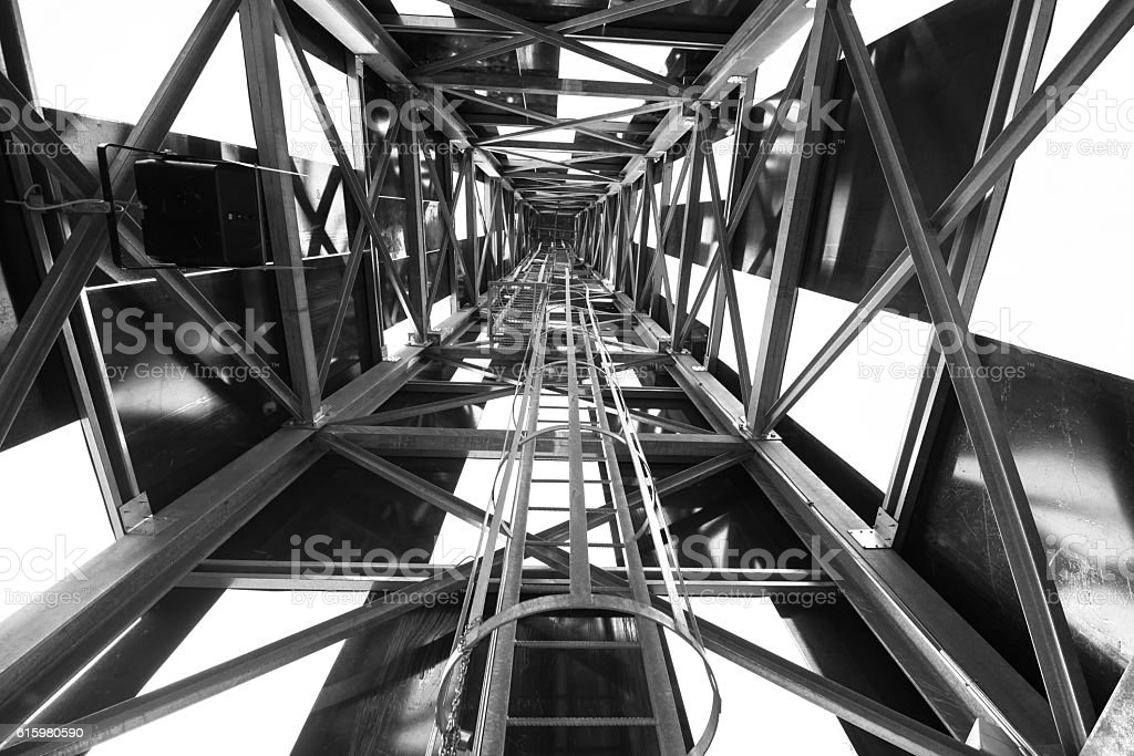 Abstract metal structure in black and white stock photo