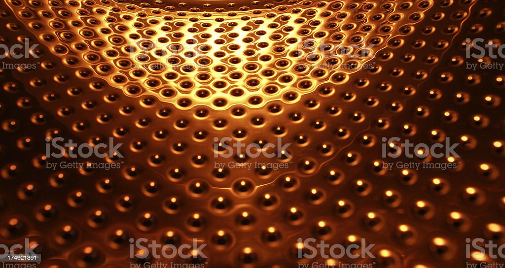 Abstract Metal Surface with holes stock photo