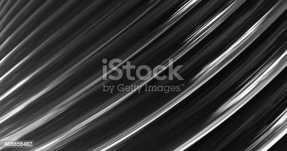 istock 3D Abstract Metallic Reflection. 668858462